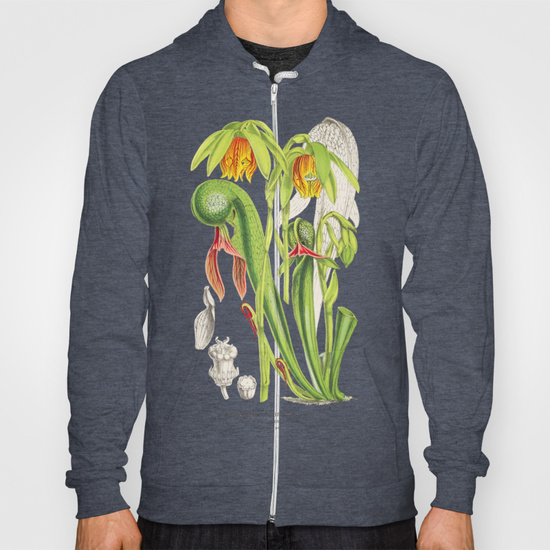 Darlingtonia Californica carnivorous plant zip hoodie