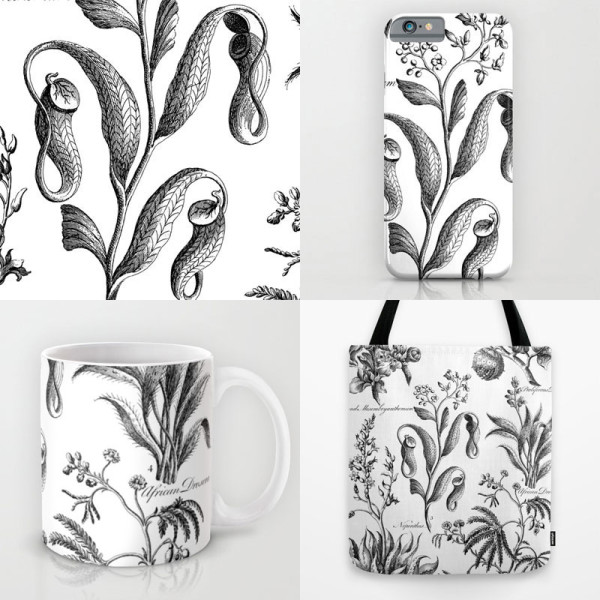 Nepenthes and Drosera print available on apparel and accessories!