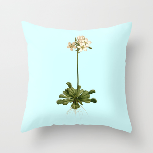Venus flytrap illustration throw pillow