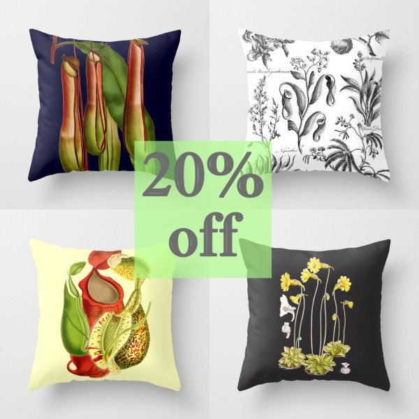 Carnivorous plant pillows