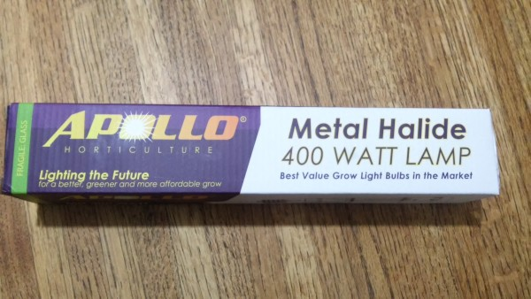 Grow light bulb. 400W metal hallide