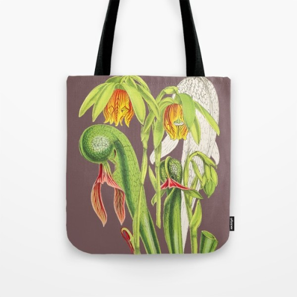 Darlingtonia californica tote bag by The Carnivore Girl